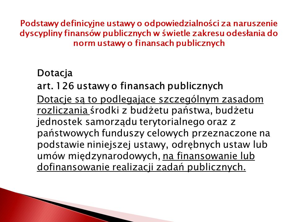 art. 126 ustawy o finansach publicznych
