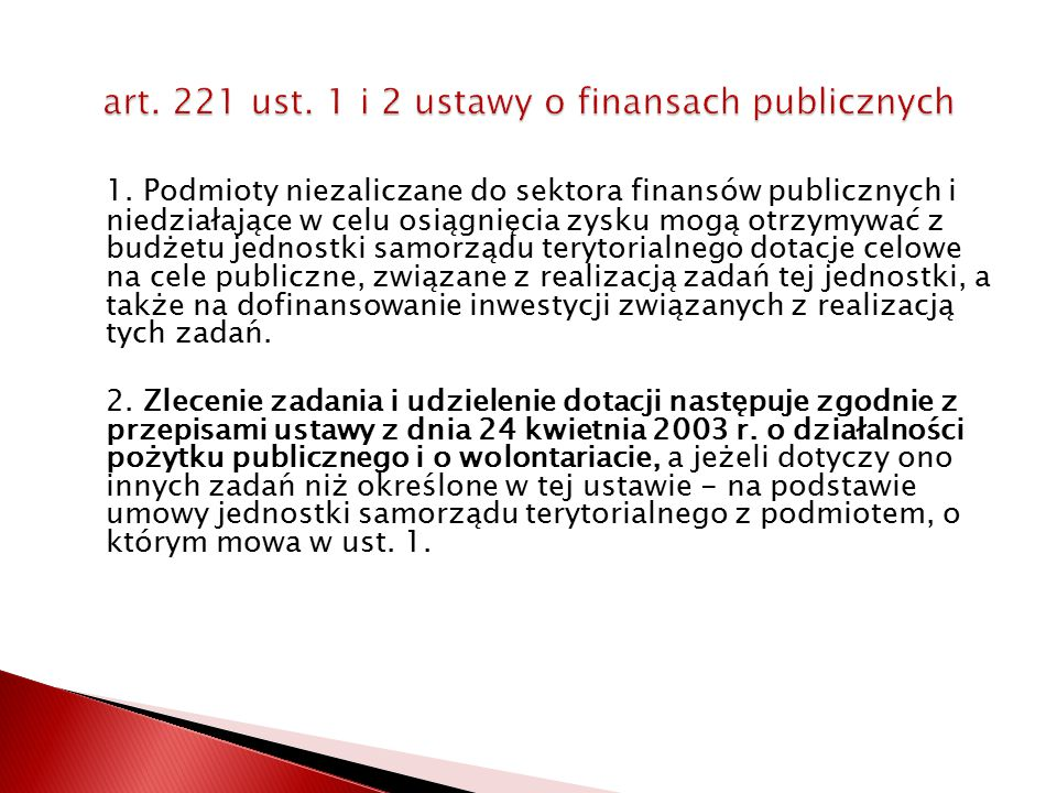 art. 221 ust. 1 i 2 ustawy o finansach publicznych
