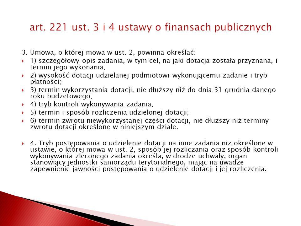 art. 221 ust. 3 i 4 ustawy o finansach publicznych