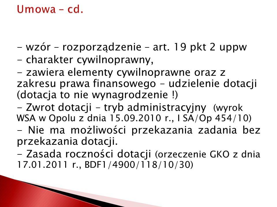 Umowa – cd.