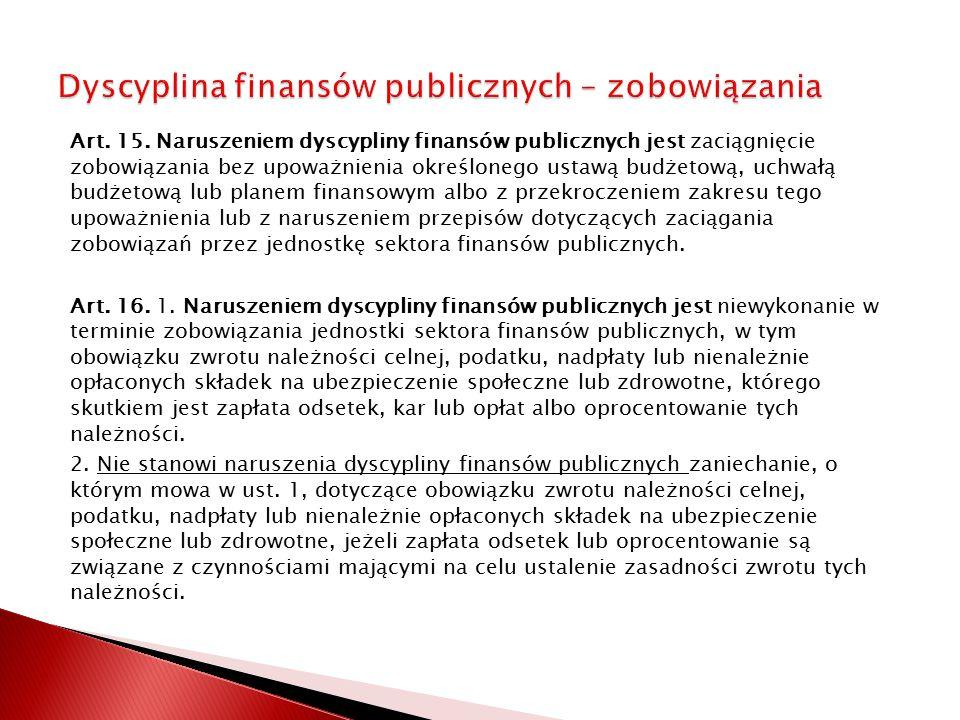 Dyscyplina finansów publicznych – zobowiązania