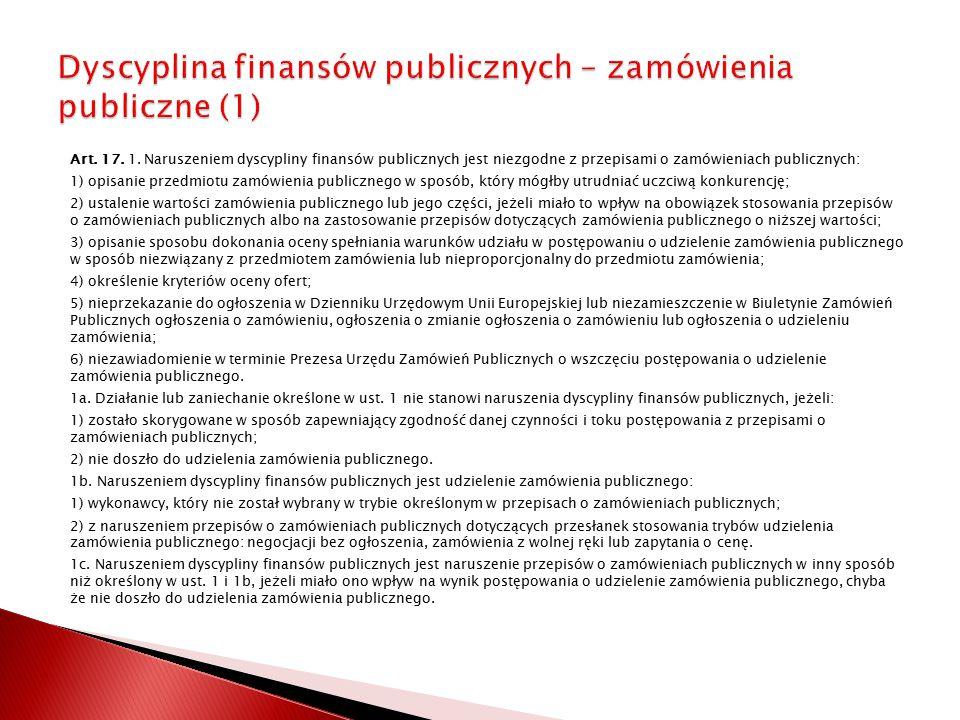 Dyscyplina finansów publicznych – zamówienia publiczne (1)