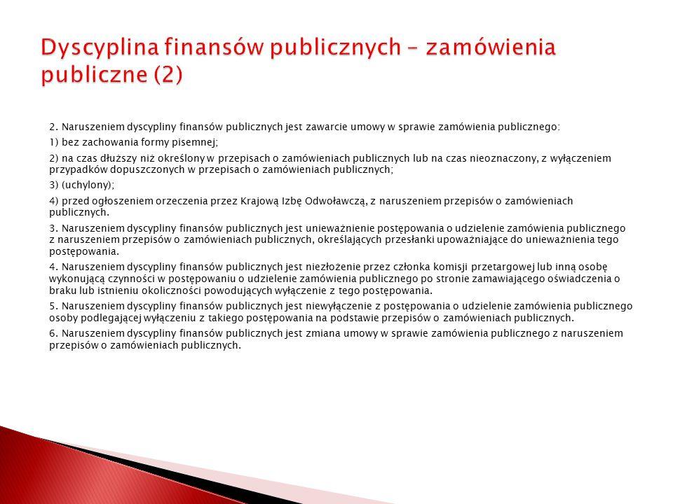 Dyscyplina finansów publicznych – zamówienia publiczne (2)