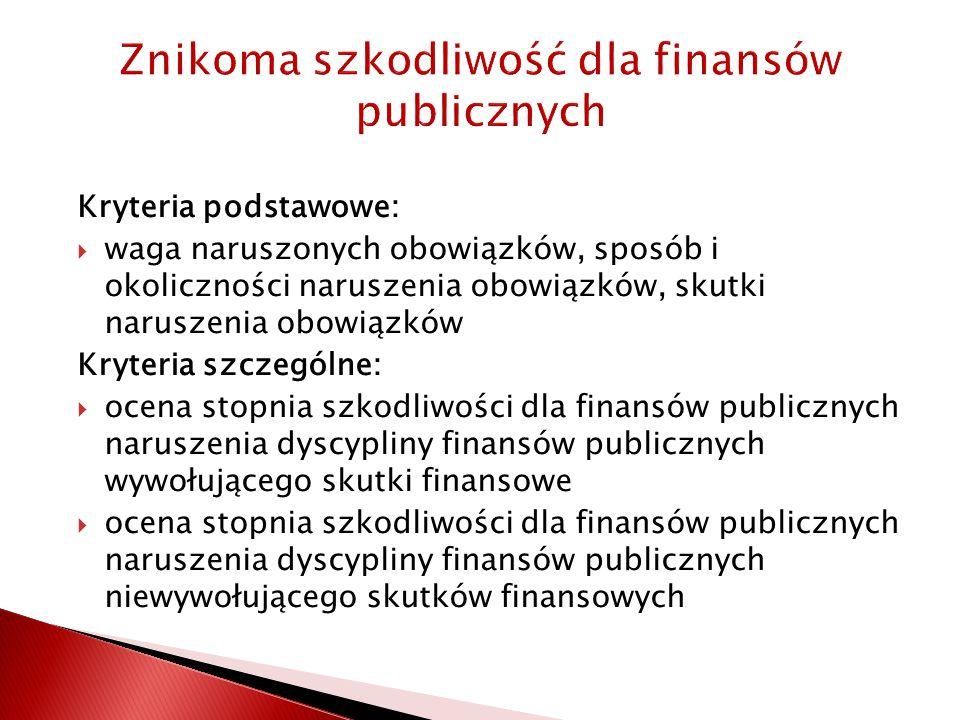 Znikoma szkodliwość dla finansów publicznych