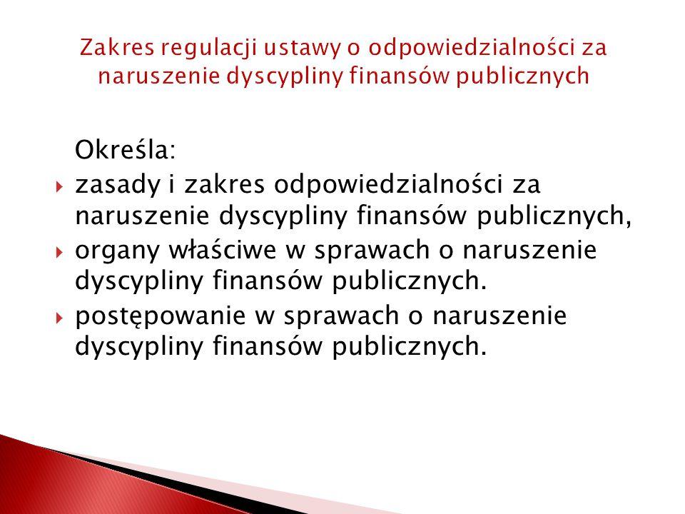 postępowanie w sprawach o naruszenie dyscypliny finansów publicznych.