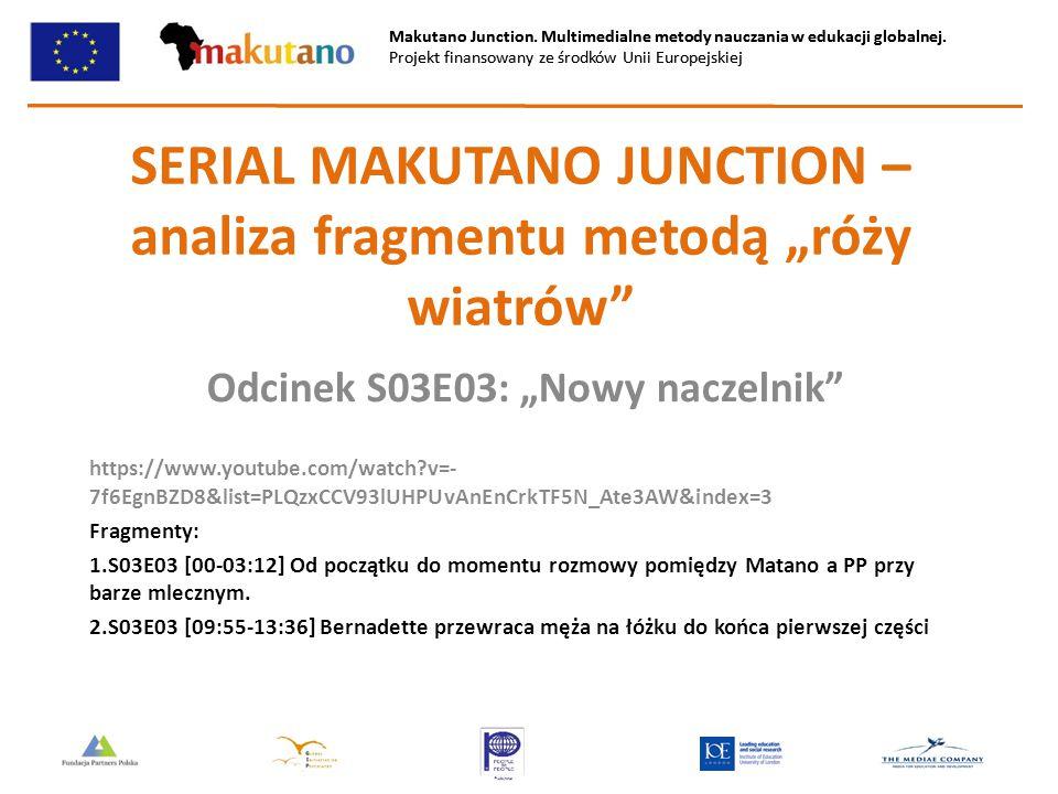 """SERIAL MAKUTANO JUNCTION – analiza fragmentu metodą """"róży wiatrów"""