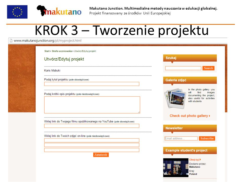 KROK 3 – Tworzenie projektu