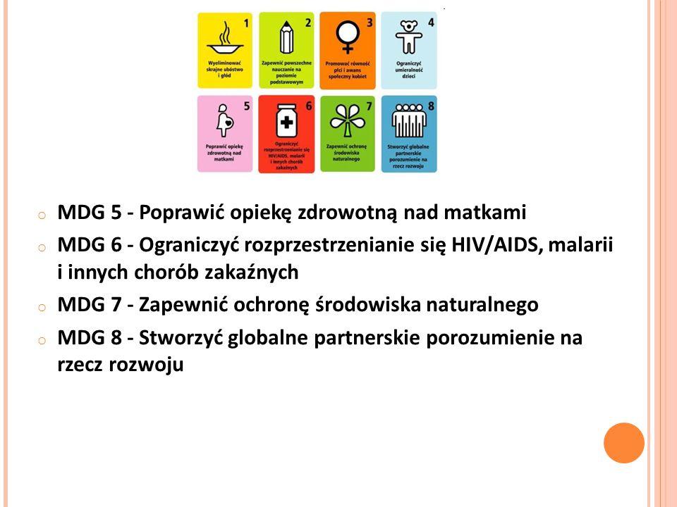 MDG 5 - Poprawić opiekę zdrowotną nad matkami