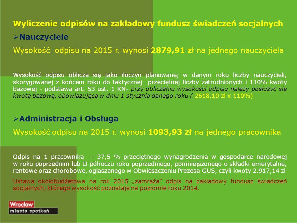 Wyliczenie odpisów na zakładowy fundusz świadczeń socjalnych