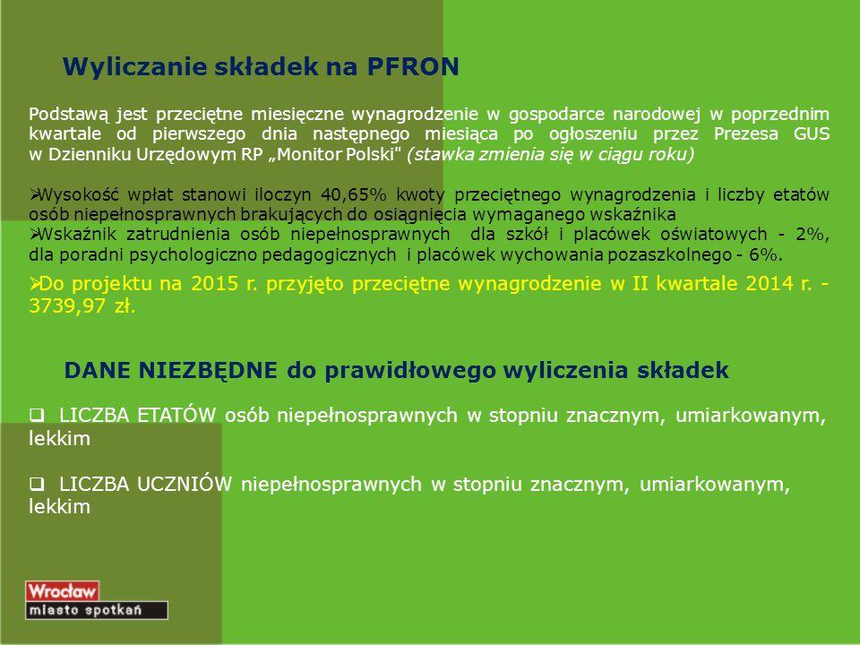 Wyliczanie składek na PFRON