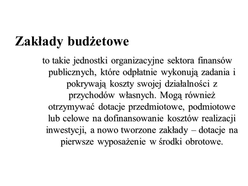 Zakłady budżetowe