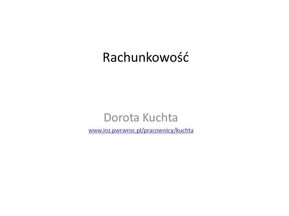 Dorota Kuchta www.ioz.pwr.wroc.pl/pracownicy/kuchta