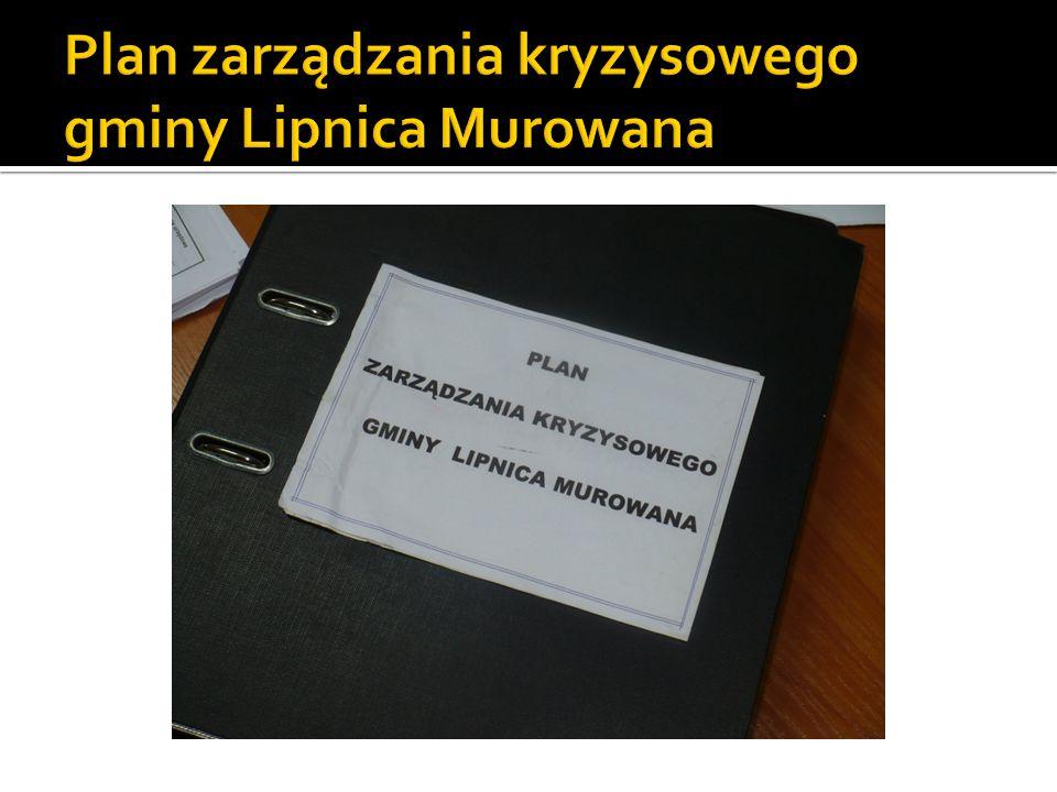 Plan zarządzania kryzysowego gminy Lipnica Murowana