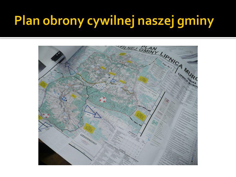Plan obrony cywilnej naszej gminy