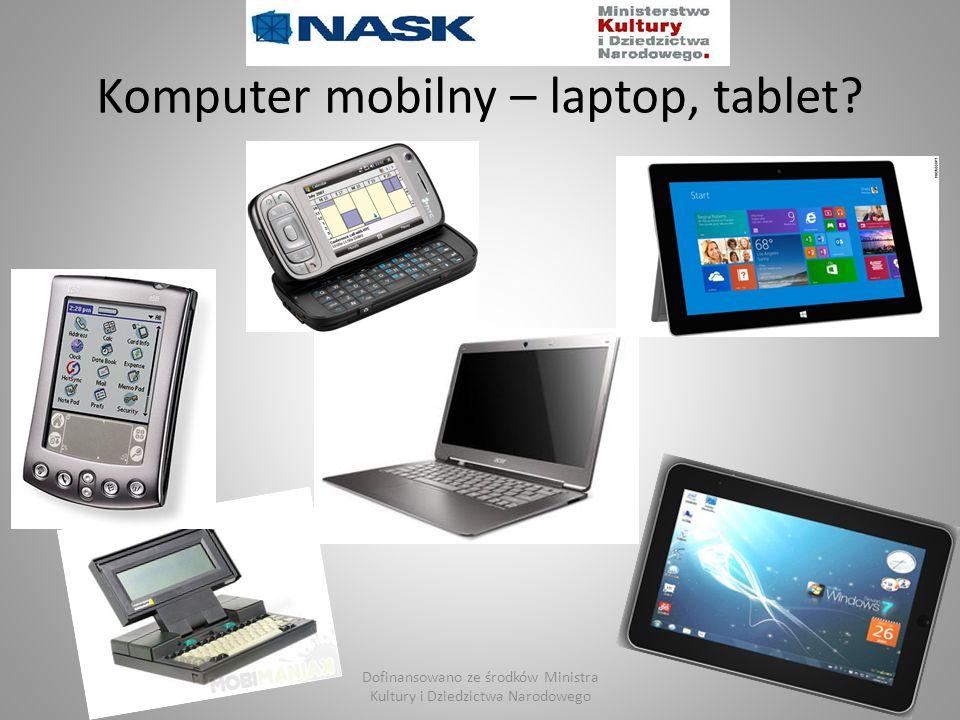 Komputer mobilny – laptop, tablet