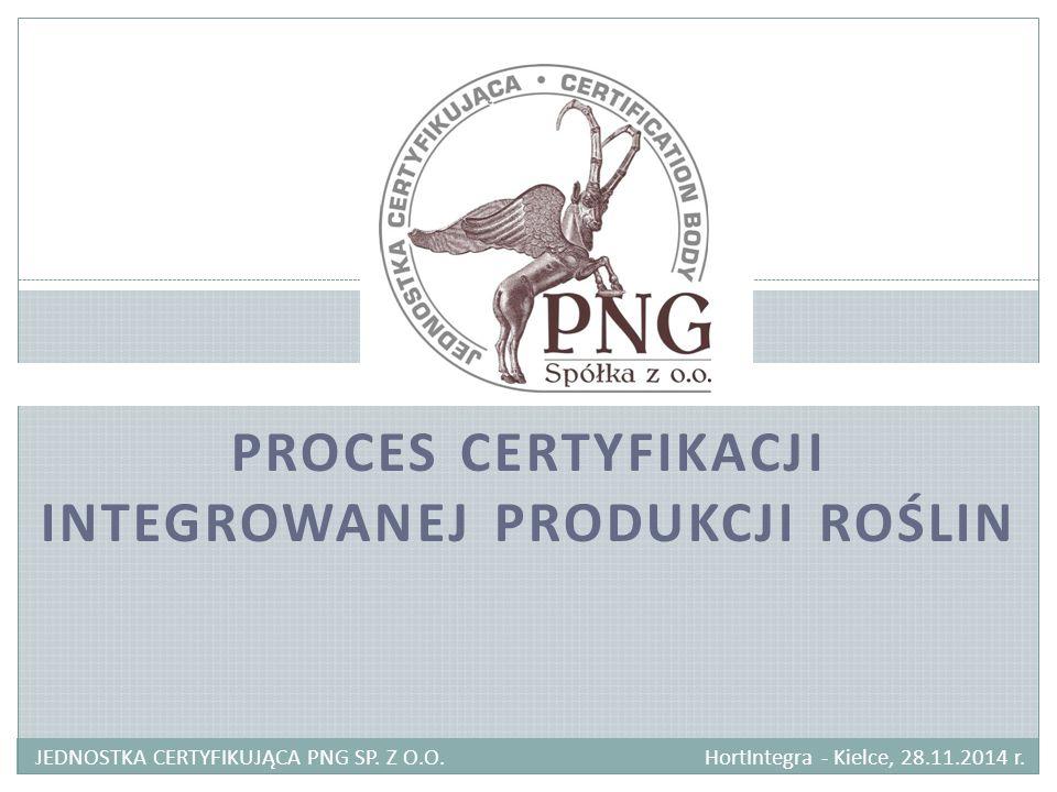 Proces certyfikacji integrowanej produkcji ROŚLIN