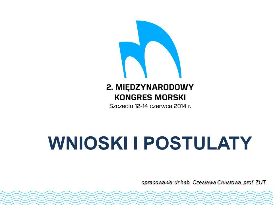 WNIOSKI I POSTULATY opracowanie: dr hab. Czesława Christowa, prof. ZUT