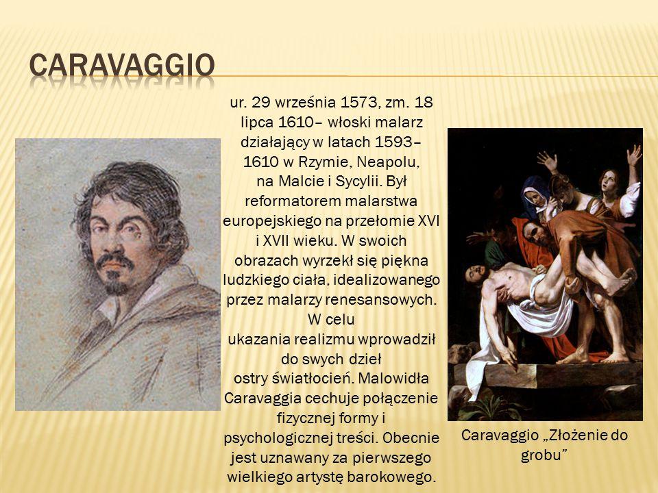 """Caravaggio """"Złożenie do grobu"""