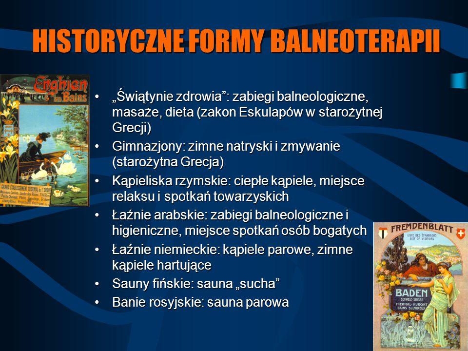 HISTORYCZNE FORMY BALNEOTERAPII