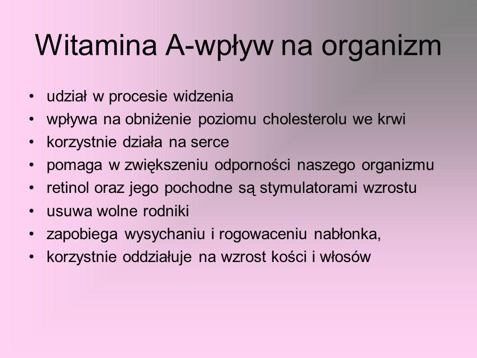 Witamina A-wpływ na organizm