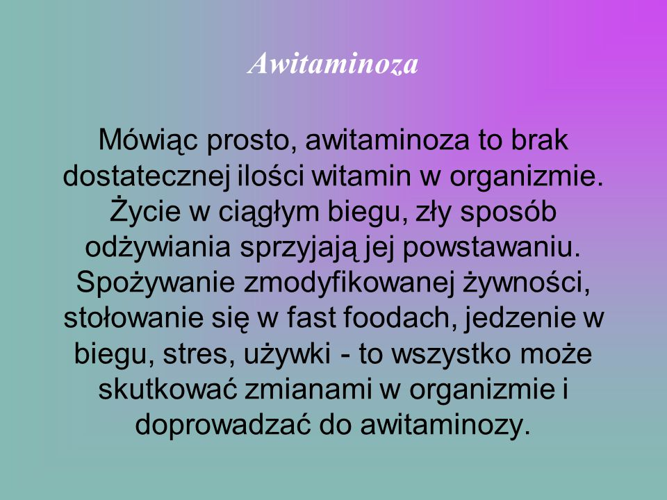 Awitaminoza
