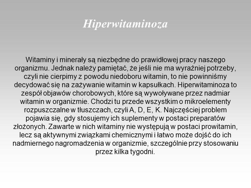 Hiperwitaminoza
