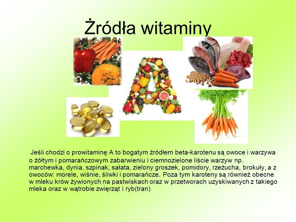 Żródła witaminy