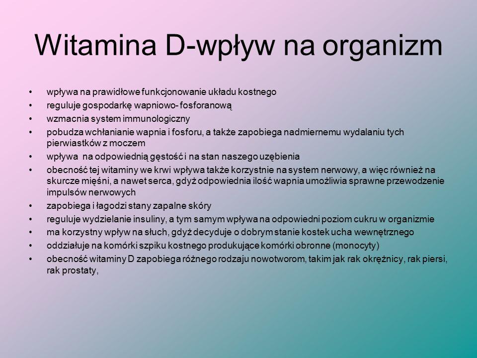 Witamina D-wpływ na organizm