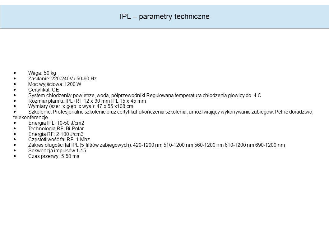 IPL – parametry techniczne