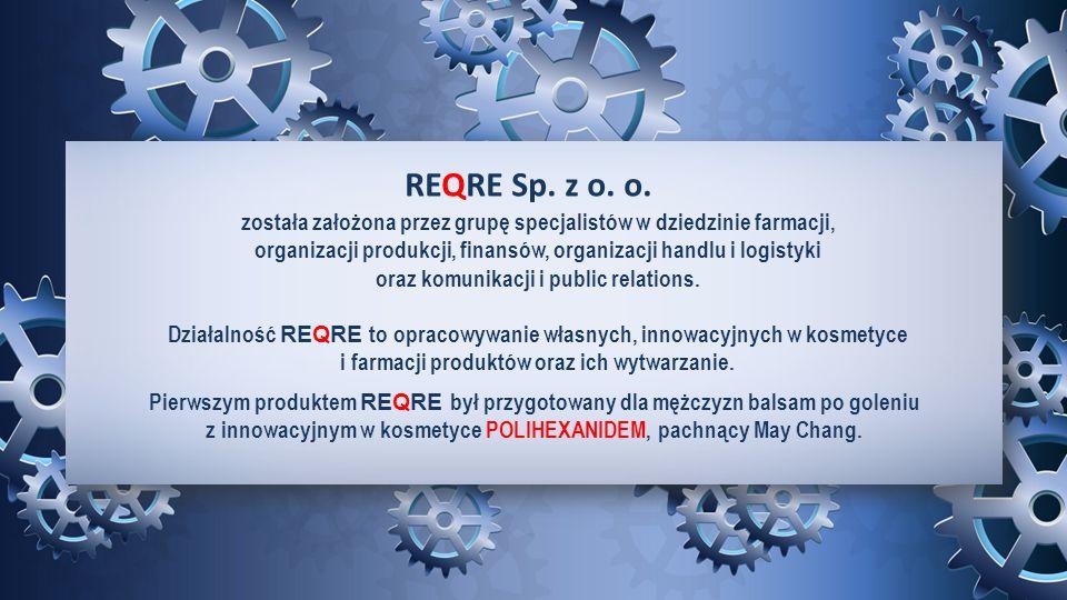 REQRE Sp. z o. o. została założona przez grupę specjalistów w dziedzinie farmacji, organizacji produkcji, finansów, organizacji handlu i logistyki.
