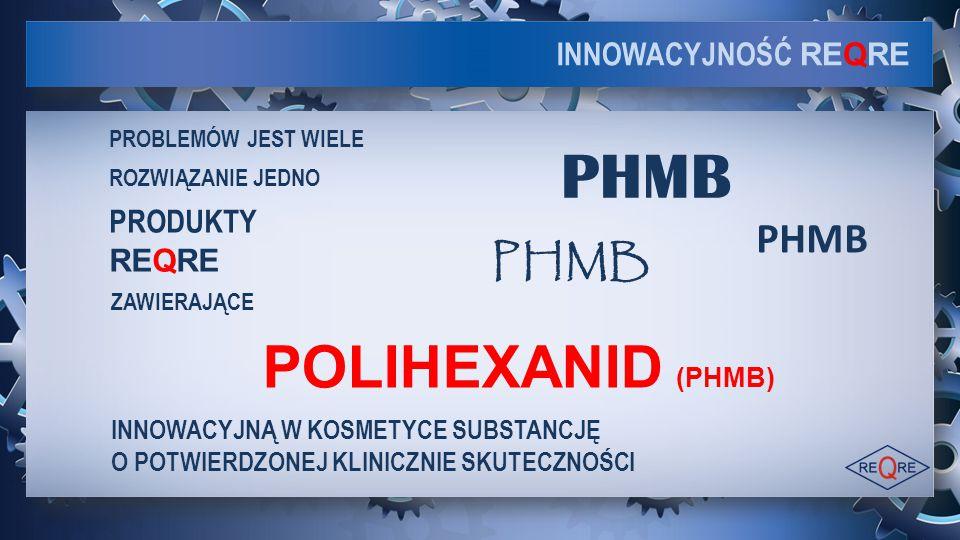 PHMB POLIHEXANID (PHMB) PHMB PHMB INNOWACYJNOŚĆ REQRE PRODUKTY REQRE