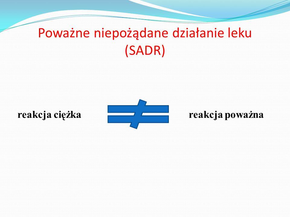 Poważne niepożądane działanie leku (SADR)
