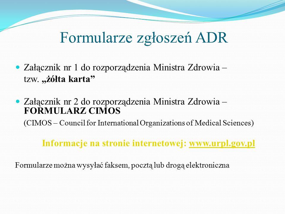 Formularze zgłoszeń ADR