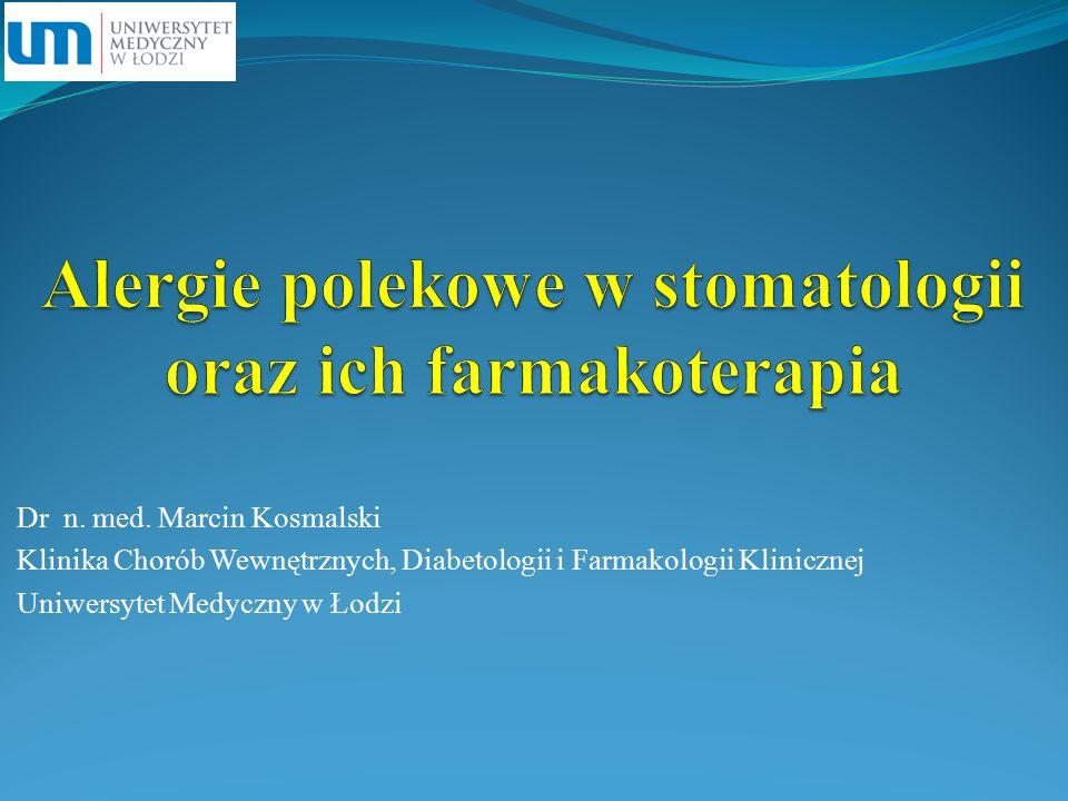 Alergie polekowe w stomatologii oraz ich farmakoterapia