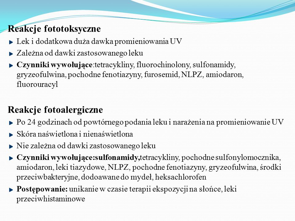 Reakcje fototoksyczne