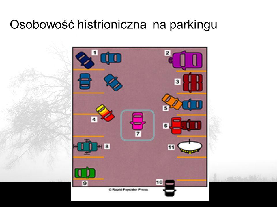 Osobowość histrioniczna na parkingu