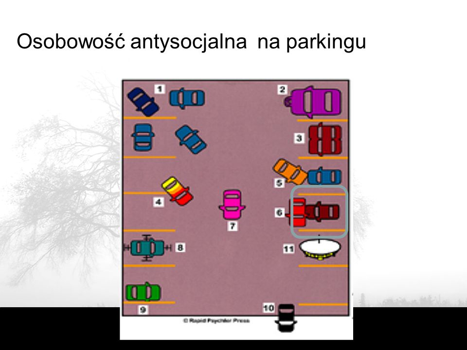 Osobowość antysocjalna na parkingu