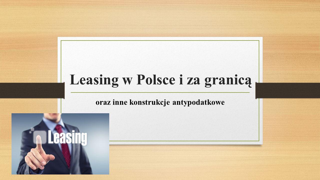 Leasing w Polsce i za granicą
