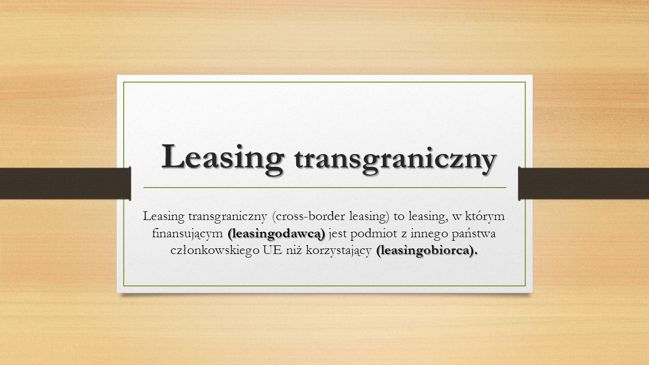 Leasing transgraniczny