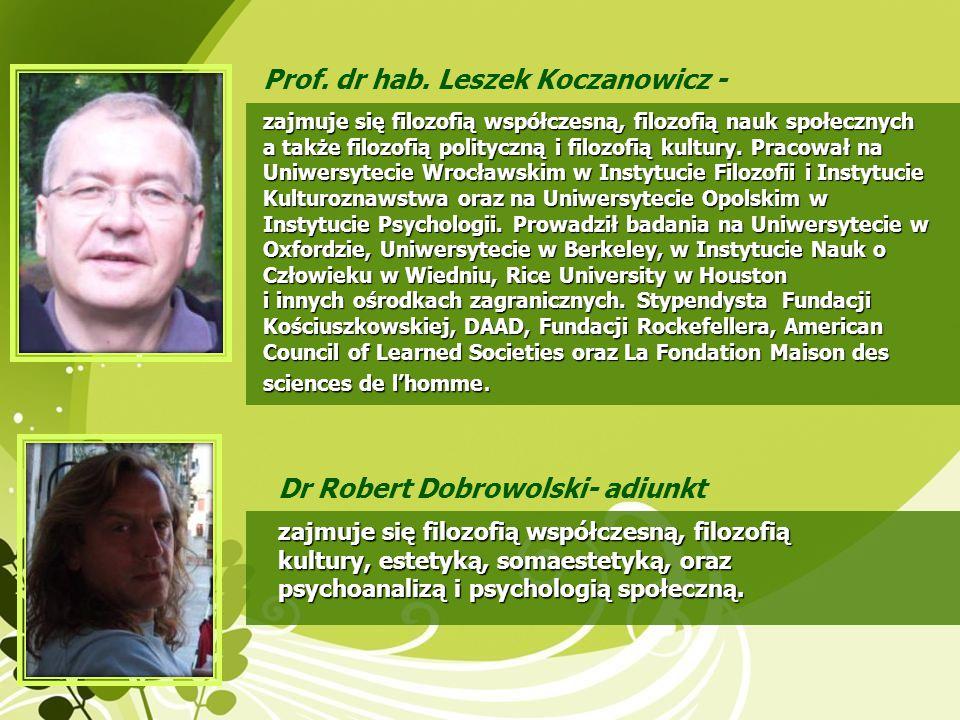 Prof. dr hab. Leszek Koczanowicz -