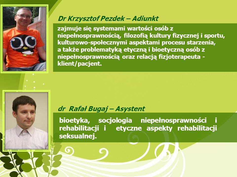 Dr Krzysztof Pezdek – Adiunkt