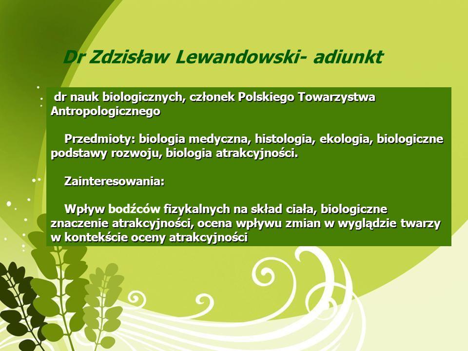 Dr Zdzisław Lewandowski- adiunkt
