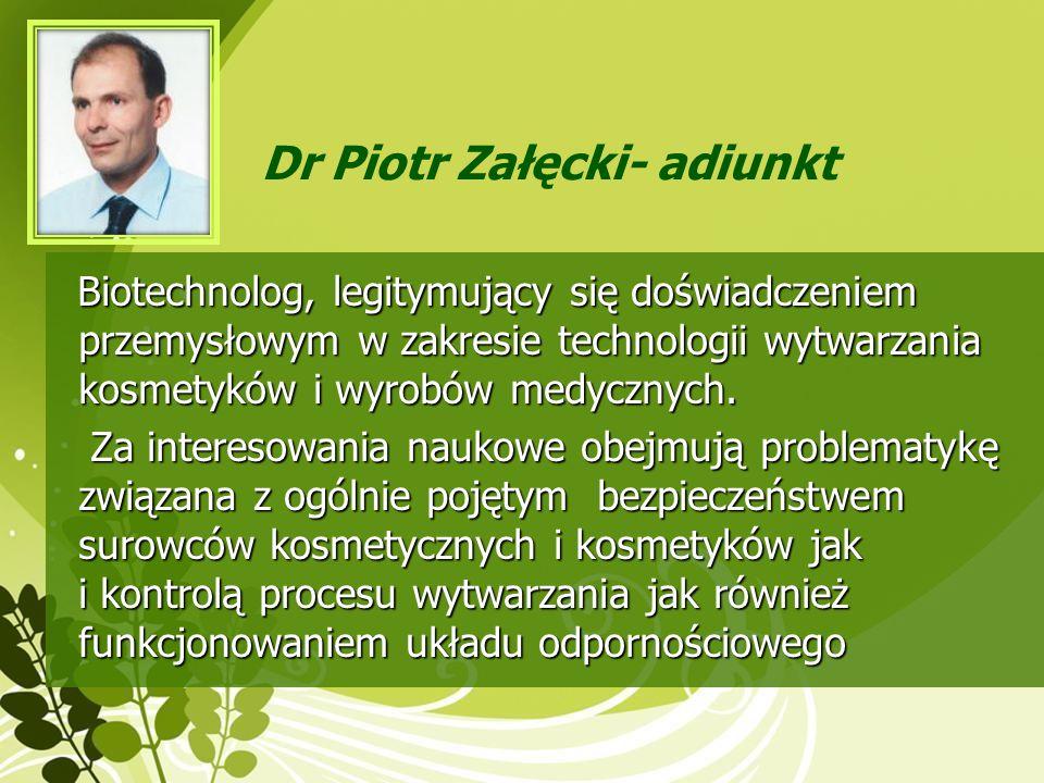 Dr Piotr Załęcki- adiunkt