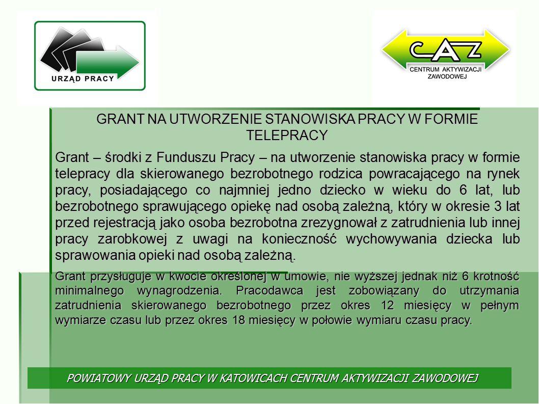 GRANT NA UTWORZENIE STANOWISKA PRACY W FORMIE TELEPRACY