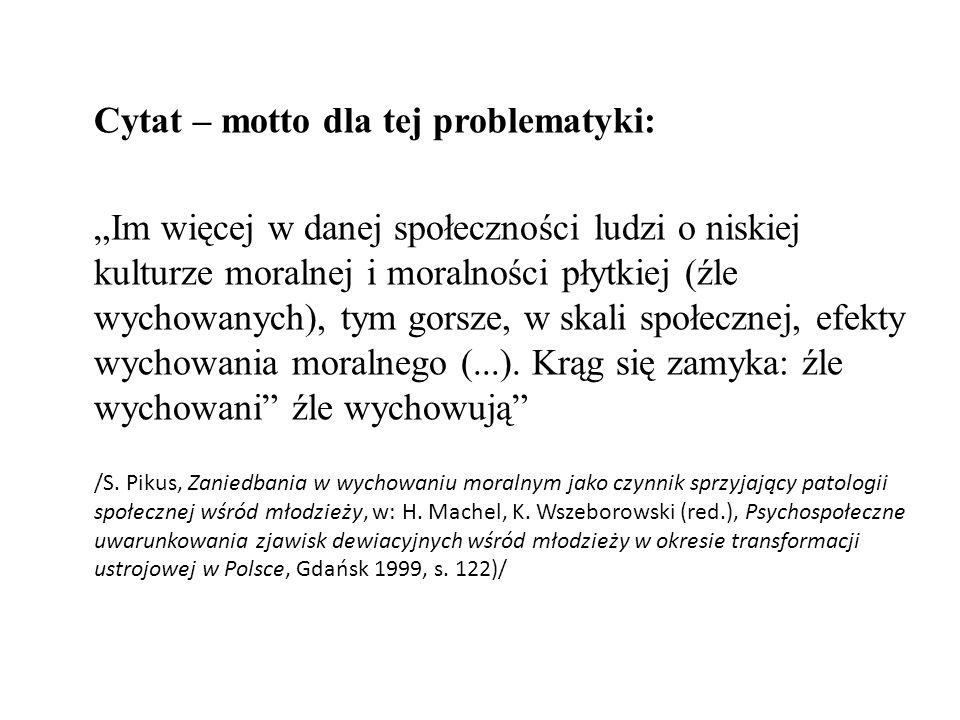 Cytat – motto dla tej problematyki: