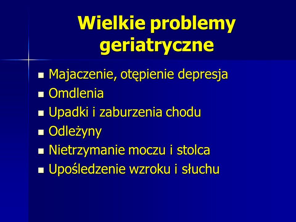 Wielkie problemy geriatryczne