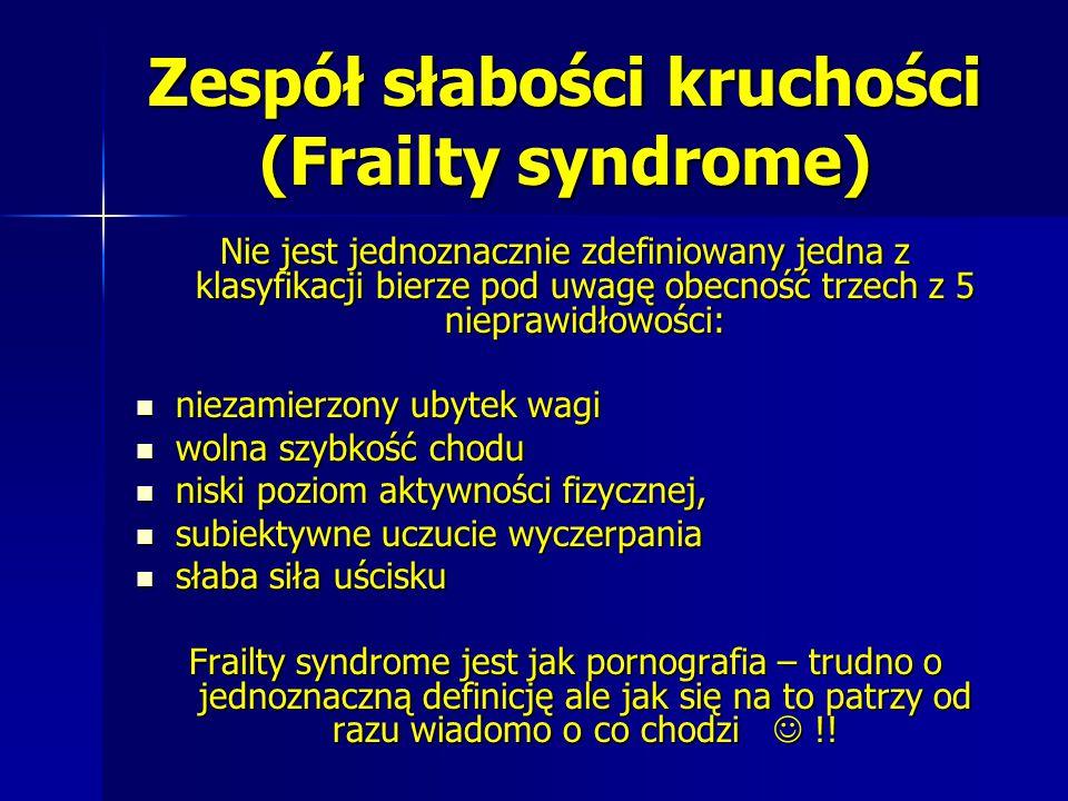 Zespół słabości kruchości (Frailty syndrome)