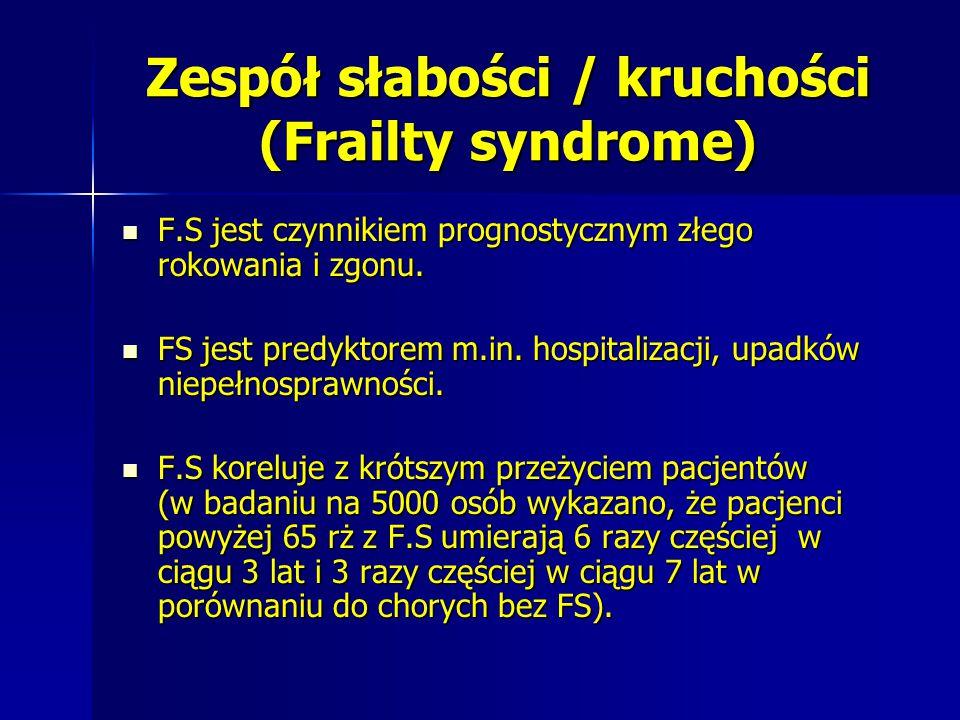 Zespół słabości / kruchości (Frailty syndrome)