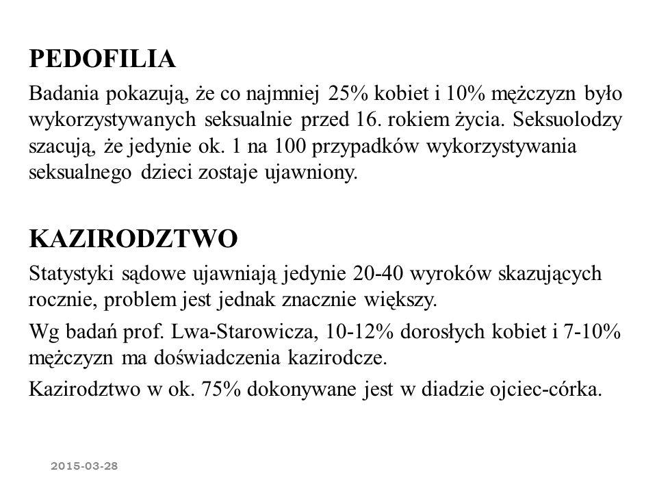 PEDOFILIA KAZIRODZTWO
