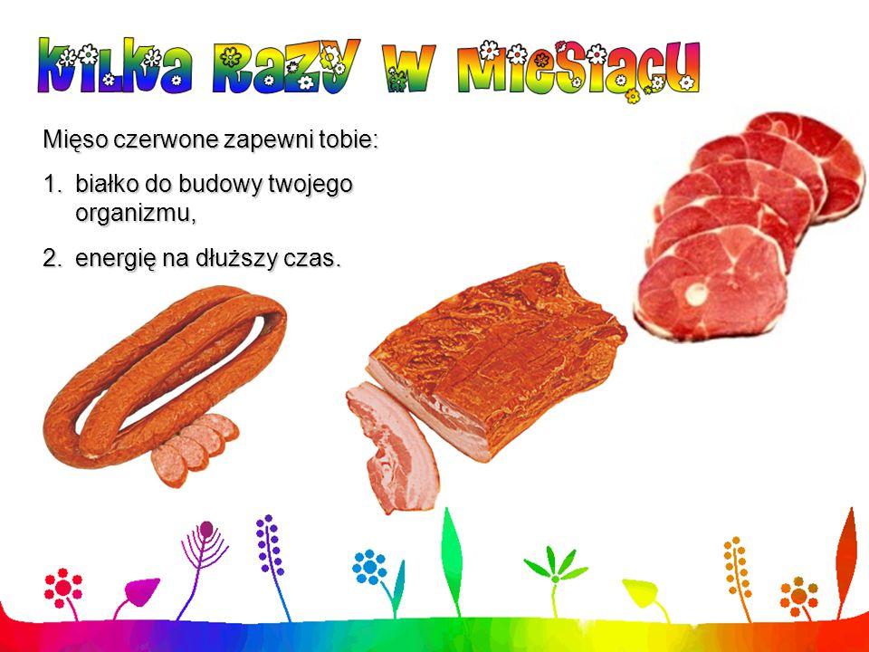 Mięso czerwone zapewni tobie: